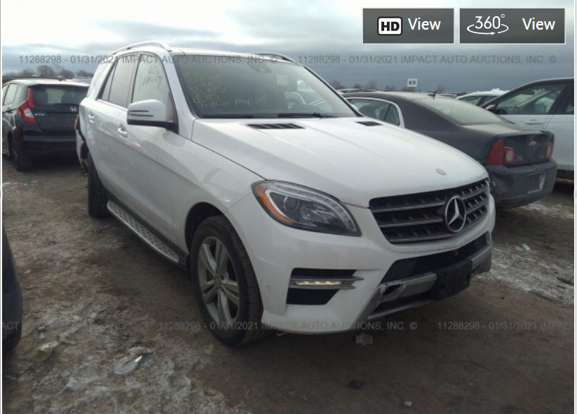 Внос на Mercedes-Benz ML 350 от Канада